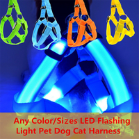 Nylon Flashing Light LED Dog Harnesses Chest Strap