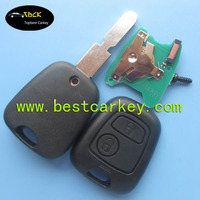 Alibaba Recommend 2 buttons remote car key for peugeot 406 remote key for peugeot 406 key