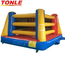 Box N' Bounce Large Inflatable bouncy Boxing ring arena/ Inflatable wrestling ring game for kids adult