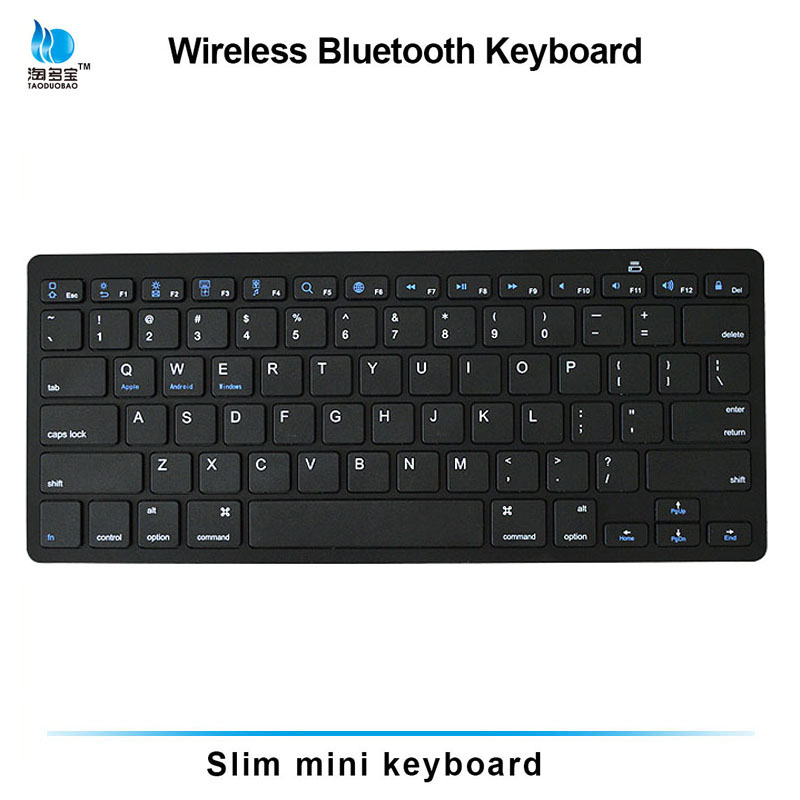 Slim mini wireless bluetooth keyboard for ipad laptop/tablet PC