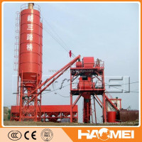 50m3/h Fixed Skip Type concrete batching plant process flow