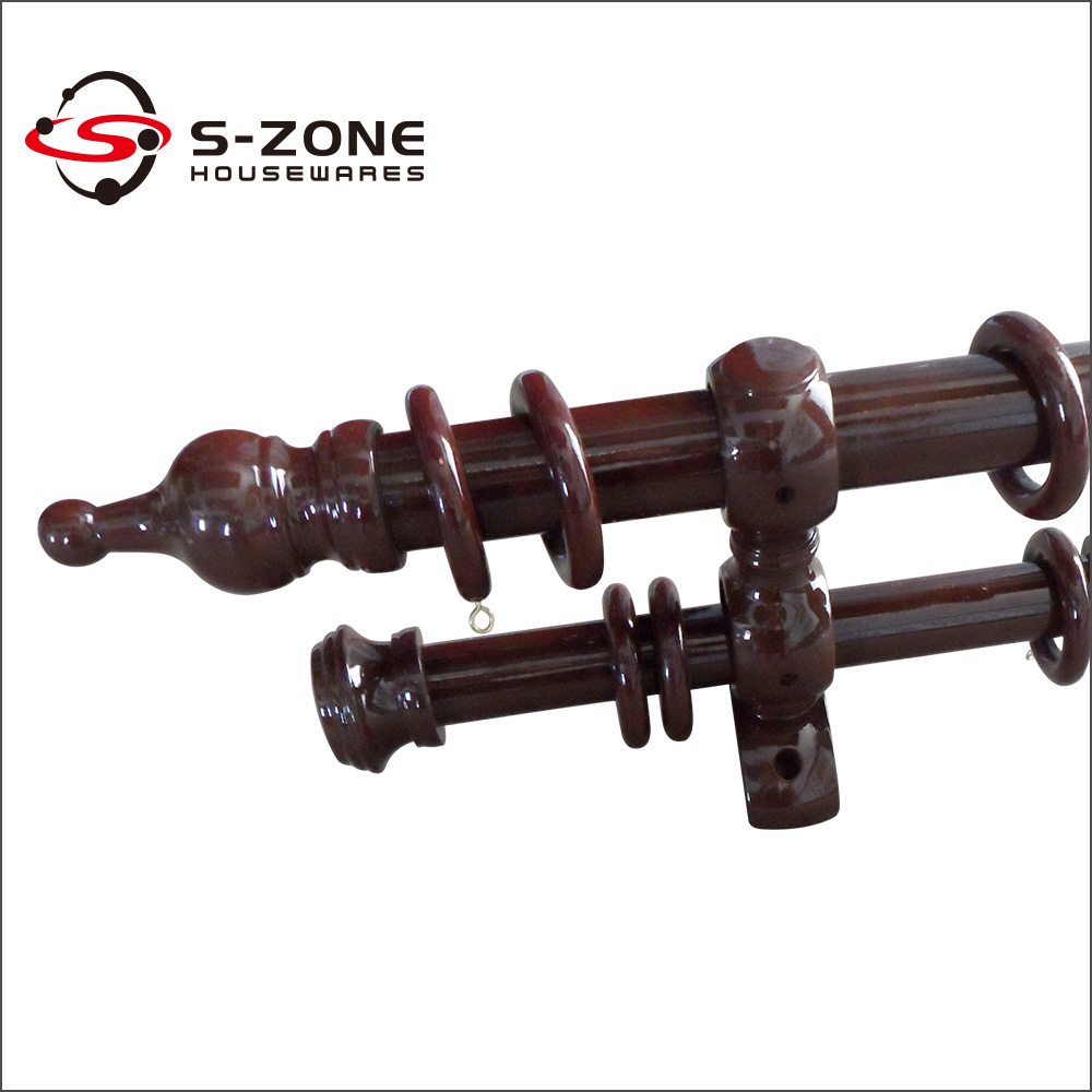 designs wooden curtain rods and accessories