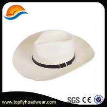 Cheap Women Church Hats Wide Brim Fedora Hat With Belt For Sale