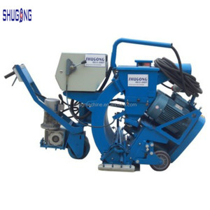 Walk behind steel shot blasting machine for surface preparation