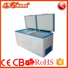 Large capacity double door chest deep freezer for meat and ice cream