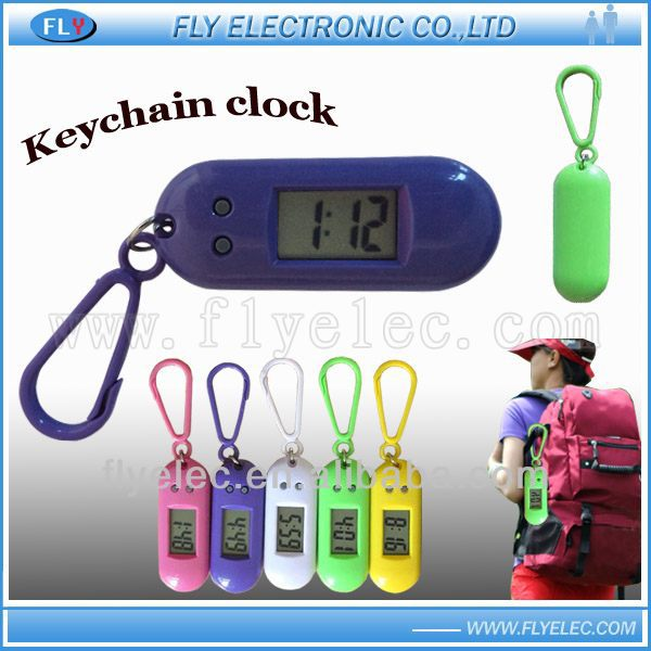 LCD clock with keychain