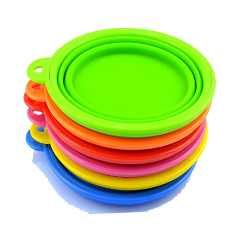 Collapsible Dog Bowls Set of 6 Colors Dishwasher Safe BPA FREE Food Grade Silicone Portable Pet Bowls Perfect Travel Bowls