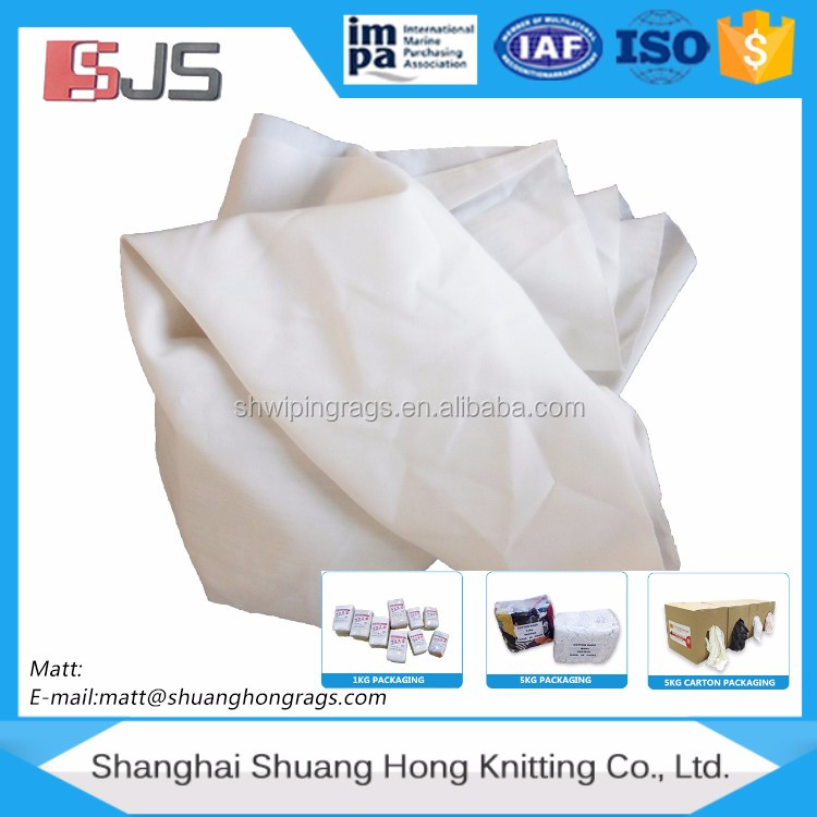 Bed sheeting rags (USED) t shirts industrial rags scrap fabric for sale