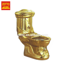 Excellent price elongated p s trap bath and water system two piece gold color toilet with high quality