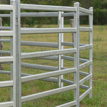 80mmx40mm 6 bars oval rail cattle panels/hurdles