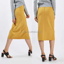 fashion manufacturers official new design women midi skirt centre front split side pockets for practicality midi skirt