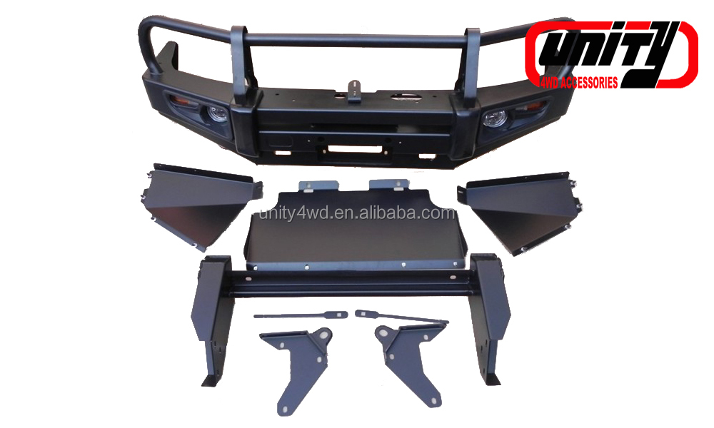 WITH LAMP & STONE GUARD/bull bar car body kit front bumper For Toyota Prado120