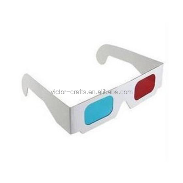 Victor Crafts 2016 promotion cheap paper custom logo 3d glasses