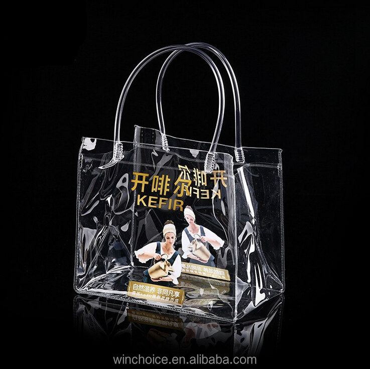 Custom made pvc vinyl shopping bag shinny shopper tote harrod customized bag high quality