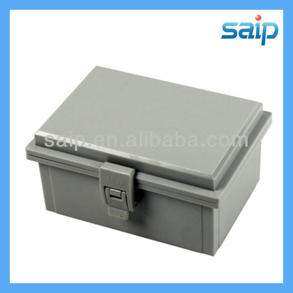 2013 Newest IP66 ABS small waterproof plastic rectangular hinged tin box/encloure