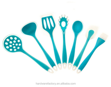 Factory 7 pcs silicone soup ladle for kitchen tools