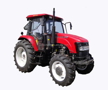 4WD 90HP agricultural tractors with implements cheap farm tractor