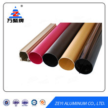 Anodized colored oval aluminum extrusion tubing