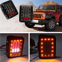 For 07 up Jeep Wrangler JK LED tail light Pair Led Brake Lamps Rear Signal Reverse Taillight Left+Right