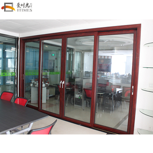 Custom used commercial glass entry doors price of aluminium sliding door chinese