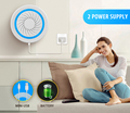 Smart home automation wireless battery operated remote control usb siren alarm with strobe light