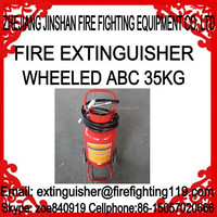 35kg DCP dry chemical wheeled trolley fire extinguisher