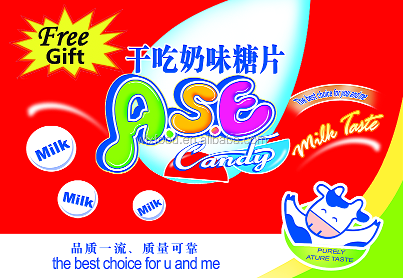 dry tablet milk candy