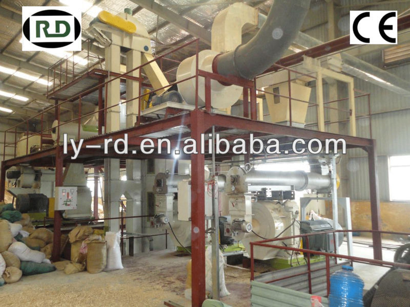 Hot sale!CE certificate RD508MX series double rollers pressing whole wood pellet production line equipment 4 tons capacity