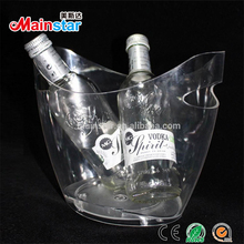 wholesale custom clear transparent 3.5L plastic ice bucket for beer