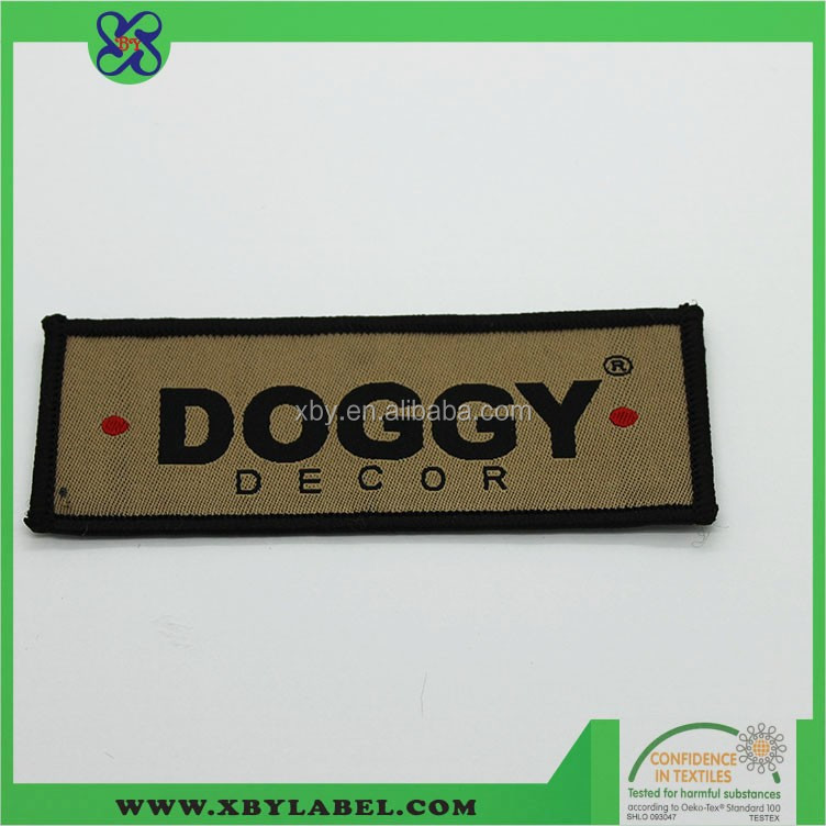 Free samples iron on blazer badges custom woven patches