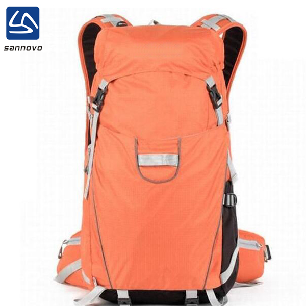 <strong>Manufacturer</strong> supplier export wholesale camping back pack in small order,high quality black knapsack