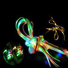 Colorful light up flashing Glow In the Dark shoelace
