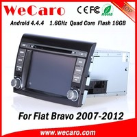"Top Version Android 4.4.4 car dvd 7"" quad core car multimedia system for fiat bravo car stereo GPS 2007-2012"