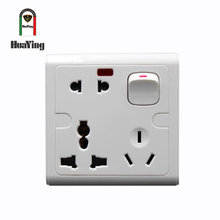 CE SAA CCC 1 switch office power 220v 3 - pin multiple outlet plug socket six pin