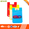 Custom logo print silicone mobile phone card holder