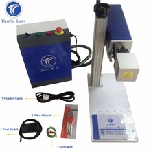 TG-B30 30W pcb laser mini engraving machine Portable fiber laser marking for ABS,ring,metal