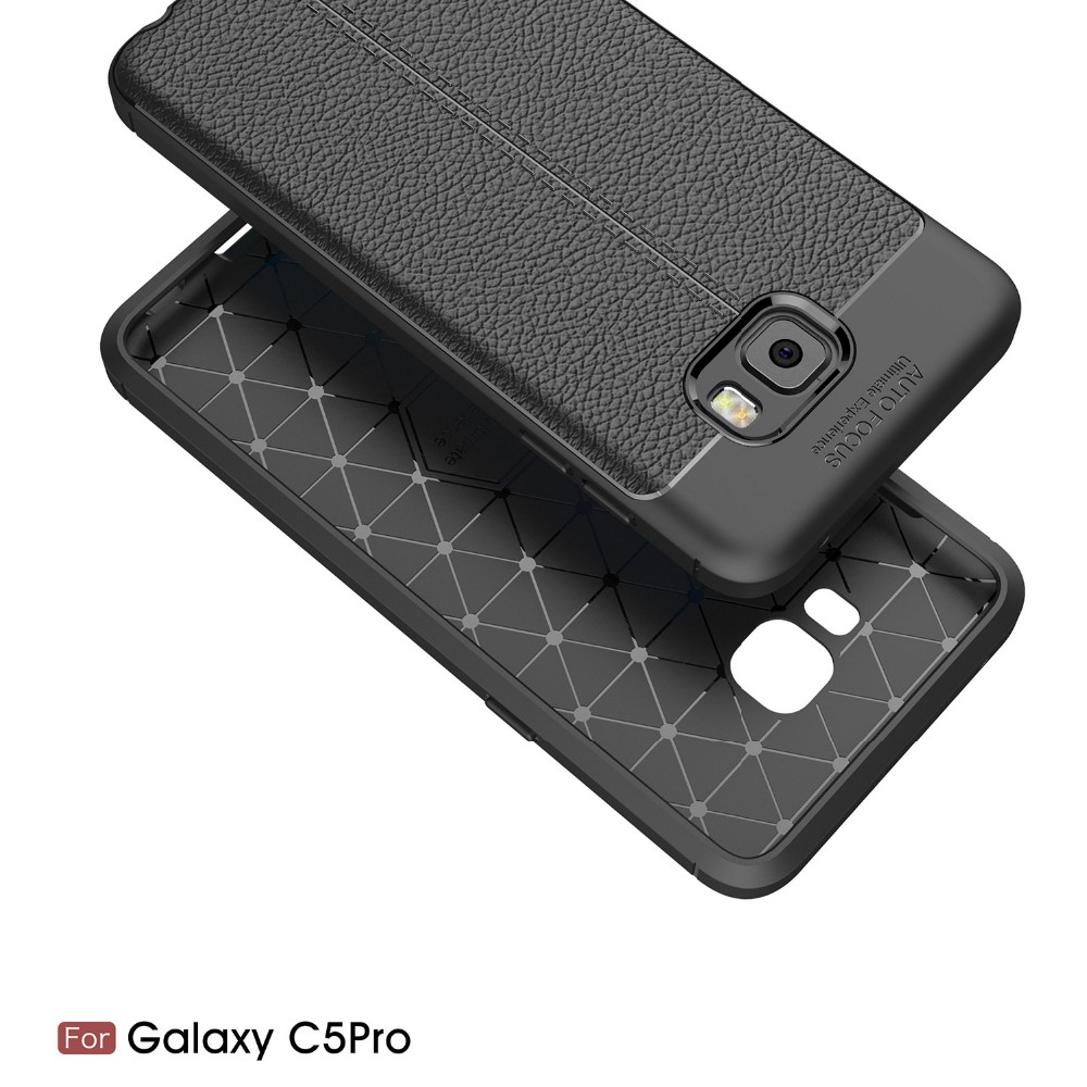 2017 New Design Carbon Fiber Lichee Pattern For Galaxy C5 Pro Soft TPU Case For Galaxy C5 Pro