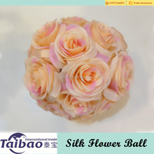 Good quality 16cm diameter artificial rose balls for wedding decoration