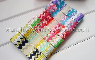 wholesale printed rainbow ribbon for scrapbook decoration