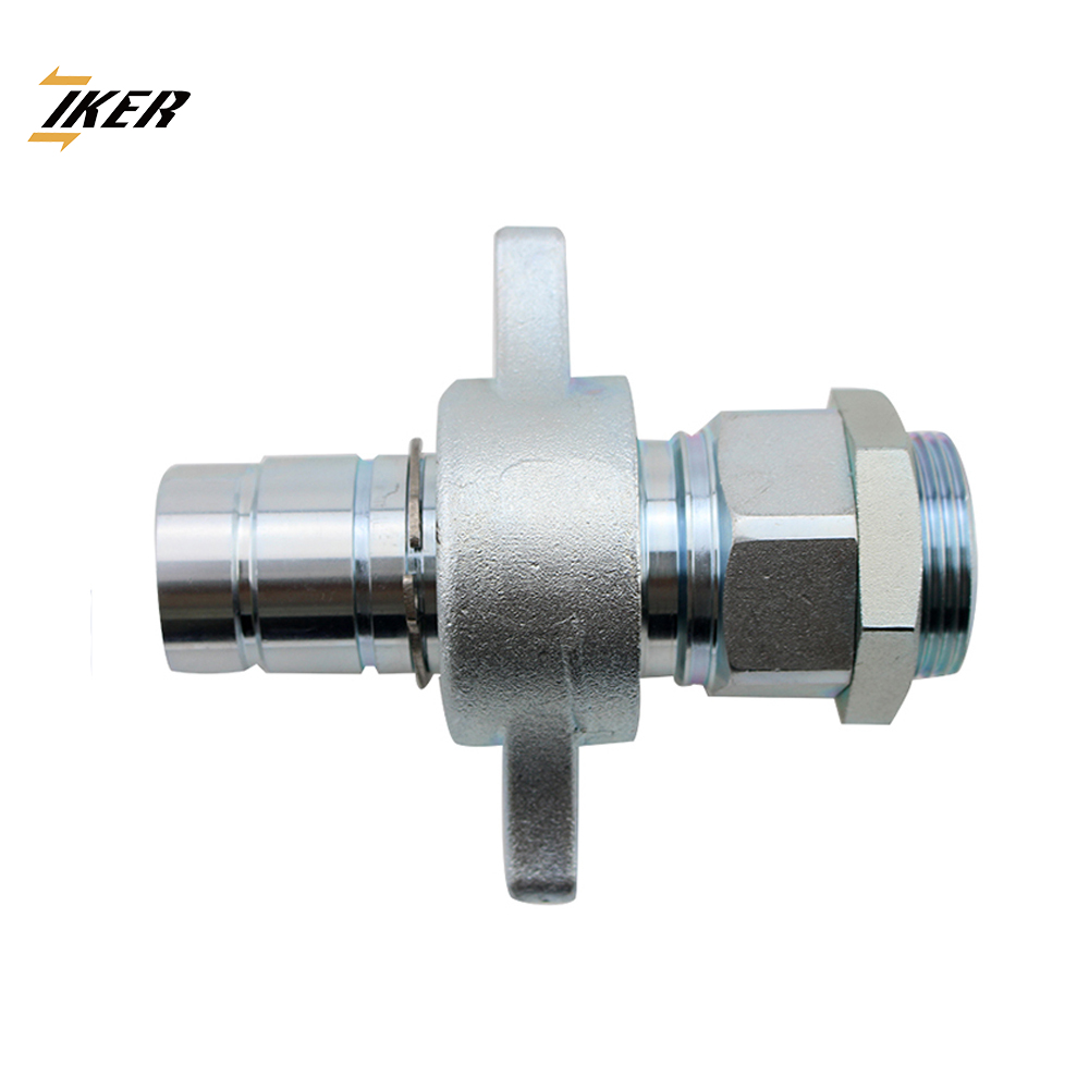 China manufacturer low price wing nut type dump trucks breakaway sleeve hydraulic quick joint coupling