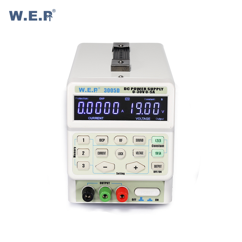 WEP 3005D Precision Variable Adjustable 30V 5A Single Output Switch Regulated DC Power <strong>Supply</strong>