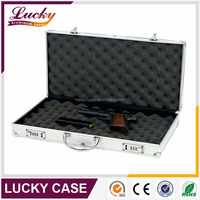 Professional Auminum Portable gun Protective case with Foam
