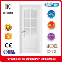 Moulded HDF Glass Door for Kitchen or bathroom