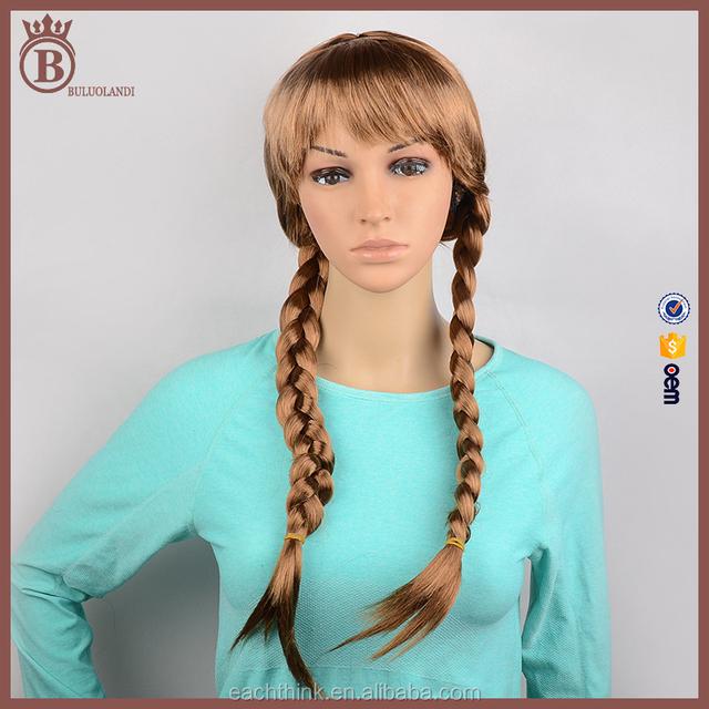 Girls Fashion Natural Brown Twist Braiding Anime Cosplay Daily Wigs