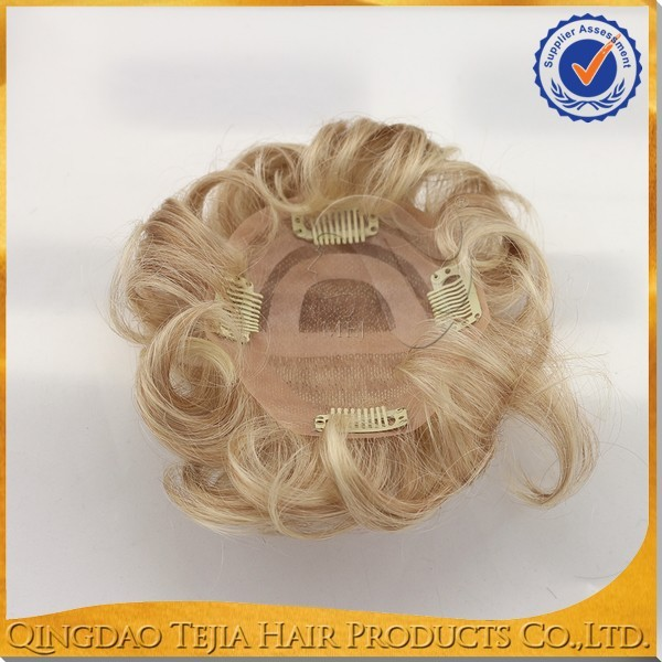 New arrival high quality clip in human hair topper remy