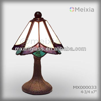 MX000033 wholesale stained glass tiffany style table lamp shade modern tiffany lamp for home decoration items