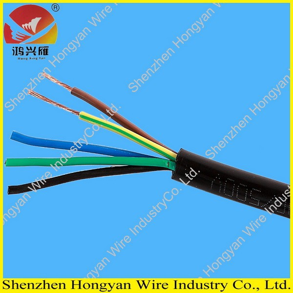 300/500V 2cores to 5 cores heat resistant or fire resistant black outer sheath cable rvv