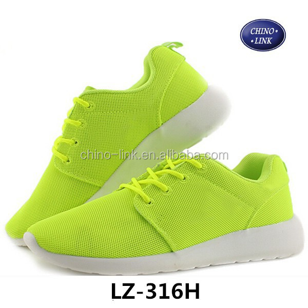 Bright color running shoes mesh men shoes