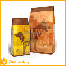 China Manufacturer stand up Colored Packing Pet Food Bags with ziplock