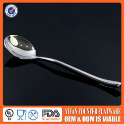 Long-Handle Stainless Steel Big Soup Spoon
